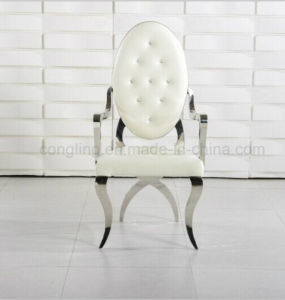 Oval Back Masonry Armrest Leisure Chair with Fabric pictures & photos