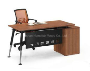 Wooden Melamine Office Staff Desk with Fixed Pedestal (HF-DC014) pictures & photos