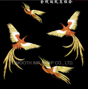 Fashion Handmade Embroidery Phoenix Bird Patch for Cheongsam Clothing Repair pictures & photos