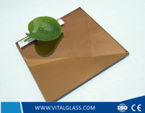 Pink/Grey/Bronze Mirror for Decrative Glass Mirror with CE & ISO9001 (P-M) pictures & photos
