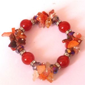 Natural Carnelian Bracelets Bangles Elastic Rope Chain Natural Stone Friendship Bracelets for Women and Men Jewelry pictures & photos