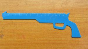 Xf0705 Pistol Logo Plastic Ruler for Promotion (XF0705)