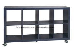 Modern Wooden mobile UV High Gloss Bookcase (Julia Bookcase) pictures & photos