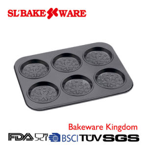 6 Cup Cake Pan Carbon Steel Nonstick Bakeware (SL-Bakeware) pictures & photos