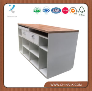 Cashier Desk with Two Lockable Drawer and Storages pictures & photos