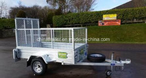 New 7X4 Galvanized Box Trailers with Mesh Ramp pictures & photos