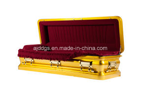 Glod Full Couch Coffin (16179057-F) pictures & photos