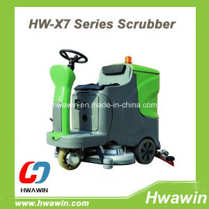 Electric Ride on Warehouse Floor Scrubber Machine pictures & photos