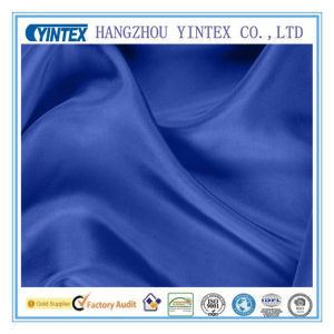 100 Polyester Roal Blue Silk Fabric for Garment pictures & photos