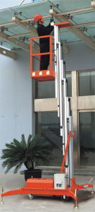 Mobile Aluminium Work Platform (Single Mast) Awp6-1000 Awp8-1000 Awp10-1000