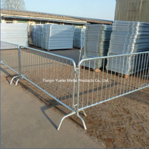 Steel Crowd Control Barriers for Pedestrian/Galvanised Crowd Queue Control Safety Barrier/Pedestrian Traffic and Crowd Control Barrier pictures & photos