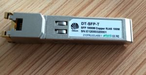 10/100/1000base-T SFP RJ45 100m Transceiver pictures & photos