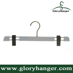 High-End Custom Wooden Bottom Hanger with Flat Metal Clip pictures & photos