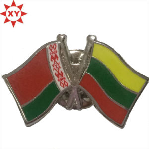 Republic of Lithuania Flag Metalsilver Plated Badge Pin pictures & photos