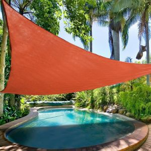 Terracotta Color HDPE Garden Sun Shade Sail, Outdoor Canopy Patio Lawn, Rectangle - 8 Years Warranty-98% UV Protection (Manufacturer)