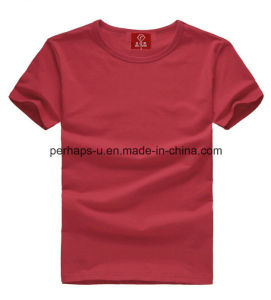 High Quality Men′s Pure Color Cotton T-Shirt with Custom Logo pictures & photos