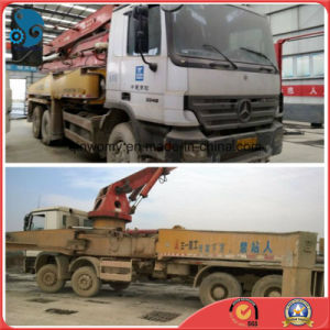 42m Shanghai-Stocked Concrete-Delivery White Sany-Pump 2007 Used Isuzu-Chassis Pump Truck pictures & photos
