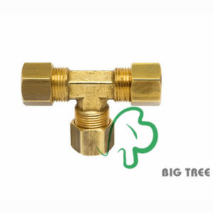 Brass Compression Tube Fitting (union tee) pictures & photos