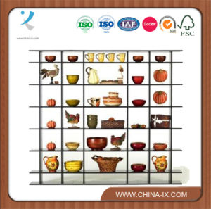 7′ Wide Free Standing Gondola Wooden Display Rack pictures & photos