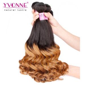 100% Human Hair Ombre Brazilian Human Hair Extension pictures & photos