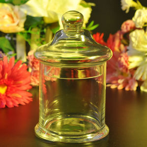 Glass Candy Jar with Glass Lid pictures & photos