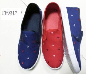 Lateset Men′s Cotton Casual Shoes Injection Canvas Shoes (FF9317) pictures & photos