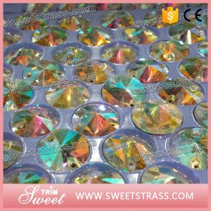 Factory Directly! Crystal Ab Rhinestone Sew on Crystal Glass for Wedding Dress pictures & photos