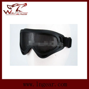 Airsoft UV-X400 Metal Mesh Tactical Goggle Anti-Fog Eyes Protection Goggle pictures & photos