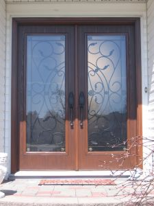 New Popular Double Design Wrought Main Door (UID-D119) pictures & photos