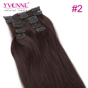 Straight Human Hair Clip in Hair Extensions pictures & photos