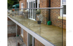 Balcony Stainless Steel Glass Railing Side Mount Design pictures & photos