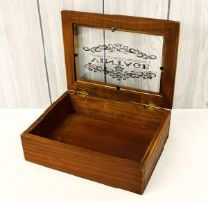 Big Pulling Type Wooden Storage Box pictures & photos