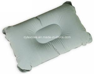 Wholesale Flatable Square Shape Flocking Neck Pillow pictures & photos