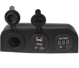 12V 3.1A Dual USB Car Cigarette Lighter Socket Charger Power Adapter Outlet Car Adapter pictures & photos