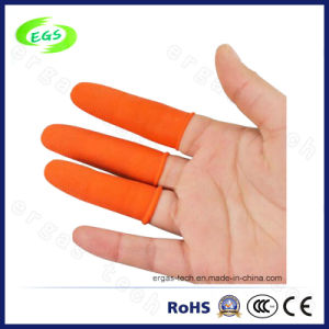 ESD Free Latex Industrial Orange Finger Cot with Anti-Skip pictures & photos