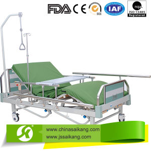 Three Function Manual Bed with Aluminum Siderail (CE/FDA/ISO) pictures & photos