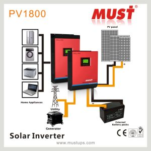 2kVA Hybrid Solar Inverter 2000va DC24V with CE SAA pictures & photos