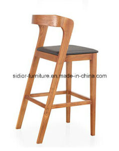 (SD-1012B) Modern Hotel Restaurant Club Furniture Wooden High Barstool Chair pictures & photos