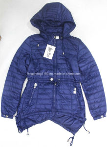 Women′s Spring/Autumn Calendering Thing Jacket with Waist Rope pictures & photos