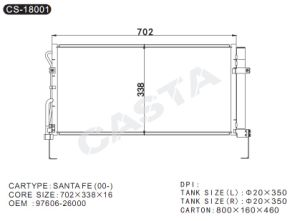 OEM: 97606-26000 condenser for Hyundai Santa Fe (00-) pictures & photos
