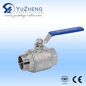 Wcb Material Thread 2PC Ball Valve with NPT Screw pictures & photos