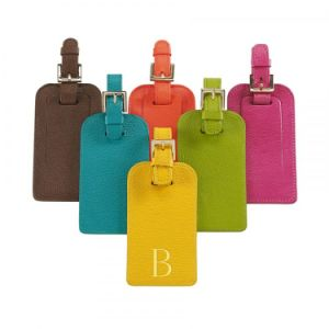 Wholesale Fashion Leather Luggage Tag with Printing Custom Logo pictures & photos