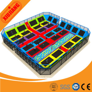 Adult Avaliable Park Play Area Indoor Manufacture Bungee Trampoline with Foam Pit pictures & photos
