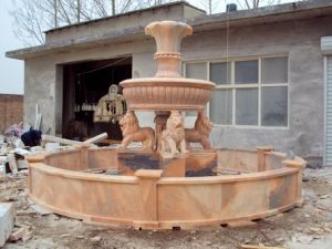 Urn Lion Fountain (FNT110) pictures & photos