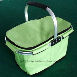 Single Handle Foldable Portable Shopping Basket with Cover (DXS-032) pictures & photos
