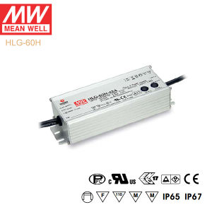 Original Meanwell Hlg-60h Series Single Output Waterproof IP67 LED Driver pictures & photos