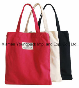 Promotional Classic 10oz Cotton Canvas Tote Book Bag with Handle pictures & photos
