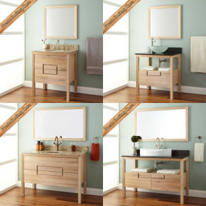 Fed-312 30 Inch Modern Rubber Wood Finishing Bathroom Vanities Bathroom Cabinets pictures & photos