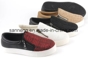 Hot Sale Women Shoes with PVC Injection Outsoles (SNC-49043) pictures & photos