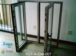 Novel Design Aluminum Casement Window Saga Window
